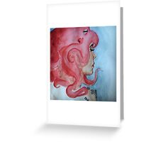 there's something on your head Greeting Card