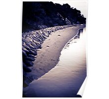 the rocky shore line  Poster
