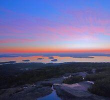 Sunrise On Cadillac Mountain by Stephen Vecchiotti