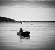 a lone skiff on the bay in Chatham by apsjphotography