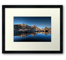 Blue Split Wide Framed Print