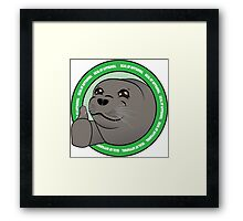 Seal Of Aproval Framed Print