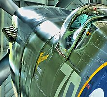 Spitfire  MH434 - OFMC`s Christmas Card 2011  by Colin  Williams Photography