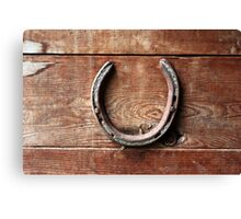 Horse Shoes bring Good Luck Canvas Print