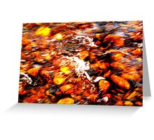 Flow Dynamics of Water, River Tees, England Greeting Card
