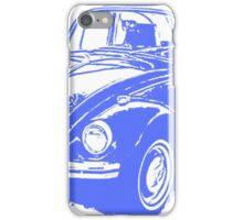 Classic VW Beetle Tee Blue Ink iPhone Case/Skin