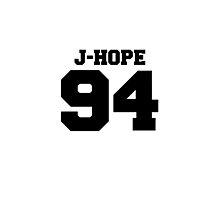 BTS Bangtan Boys Hoseok JHope Football Design Black by impalecki
