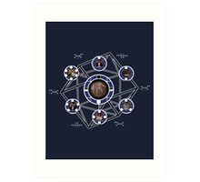 Remedial Chaos Theory Timeline Design Art Print
