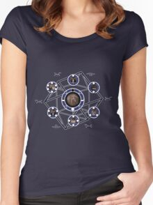 Remedial Chaos Theory Timeline Design Women's Fitted Scoop T-Shirt