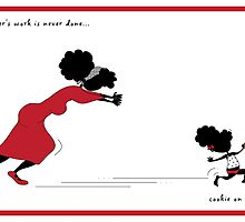 """""""Sister's Cookie on the run..."""" by Nia Brown"""