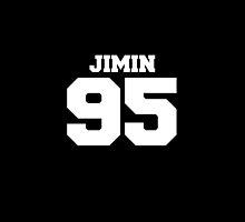 BTS Bangtan Boys Jimin Football Design White by impalecki