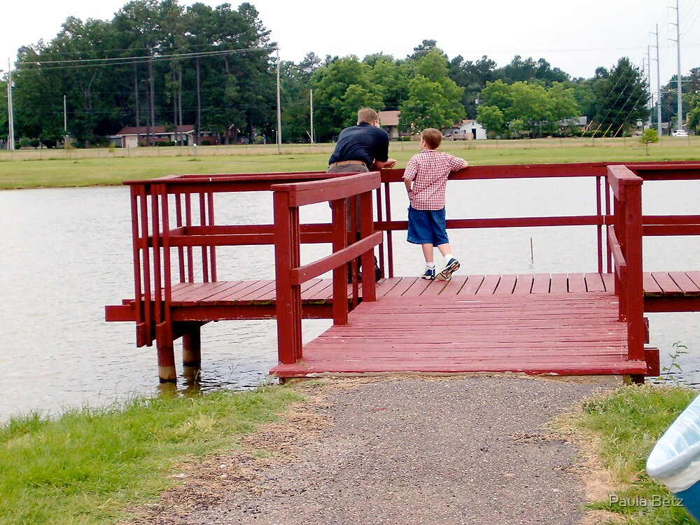 Father and Son on the dock by Paula Betz