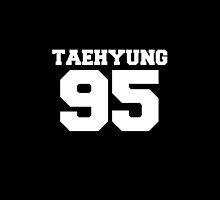 BTS Bangtan Boys Taehyung Football Design White by impalecki