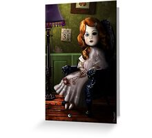 THE DATE DOLL - GOTHIC, HALLOWEEN, STEAMPUNK Greeting Card
