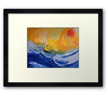 And the Sea Knows Framed Print