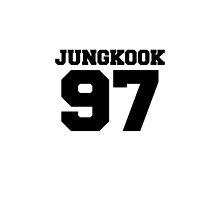 BTS Bangtan Boys Jungkook Football Design Black by impalecki