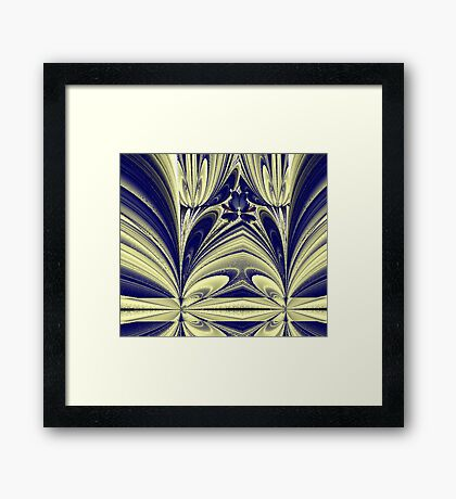 """Butterfly in the Tulips"" Framed Print"