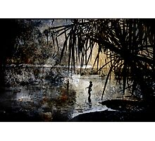 Spear Fishing Photographic Print