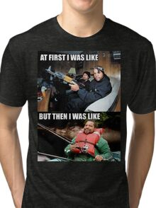 ICE CUBE THEN AND NOW Tri-blend T-Shirt