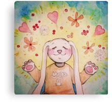 Yoga Bunny Canvas Print