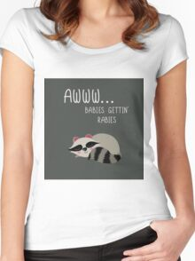 Babies Gettin' Rabies Women's Fitted Scoop T-Shirt