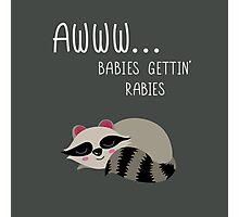 Babies Gettin' Rabies Photographic Print