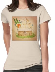 Spring Bunny Basket Womens Fitted T-Shirt