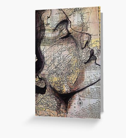 im on the map Greeting Card