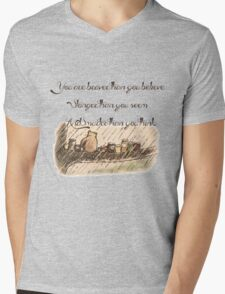 """You Are Braver Than You Believe"" (version 1) Mens V-Neck T-Shirt"
