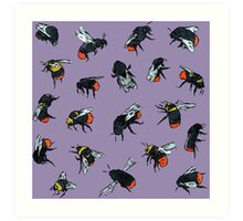 Red-Tailed Bumblebees Art Print