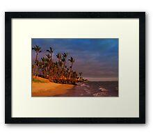 Sunset over Maalaea Bay - Maui, HAWAII Framed Print