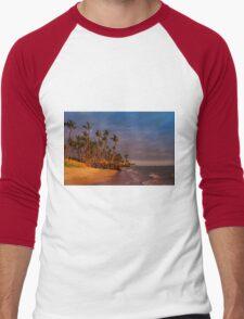 Sunset over Maalaea Bay - Maui, HAWAII Men's Baseball ¾ T-Shirt