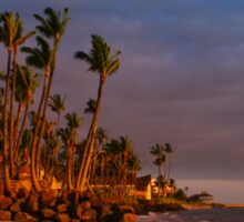 Sunset over Maalaea Bay - Maui, HAWAII Sticker