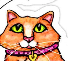 Cat Lover's Cute Tabby  T-Shirt Sticker