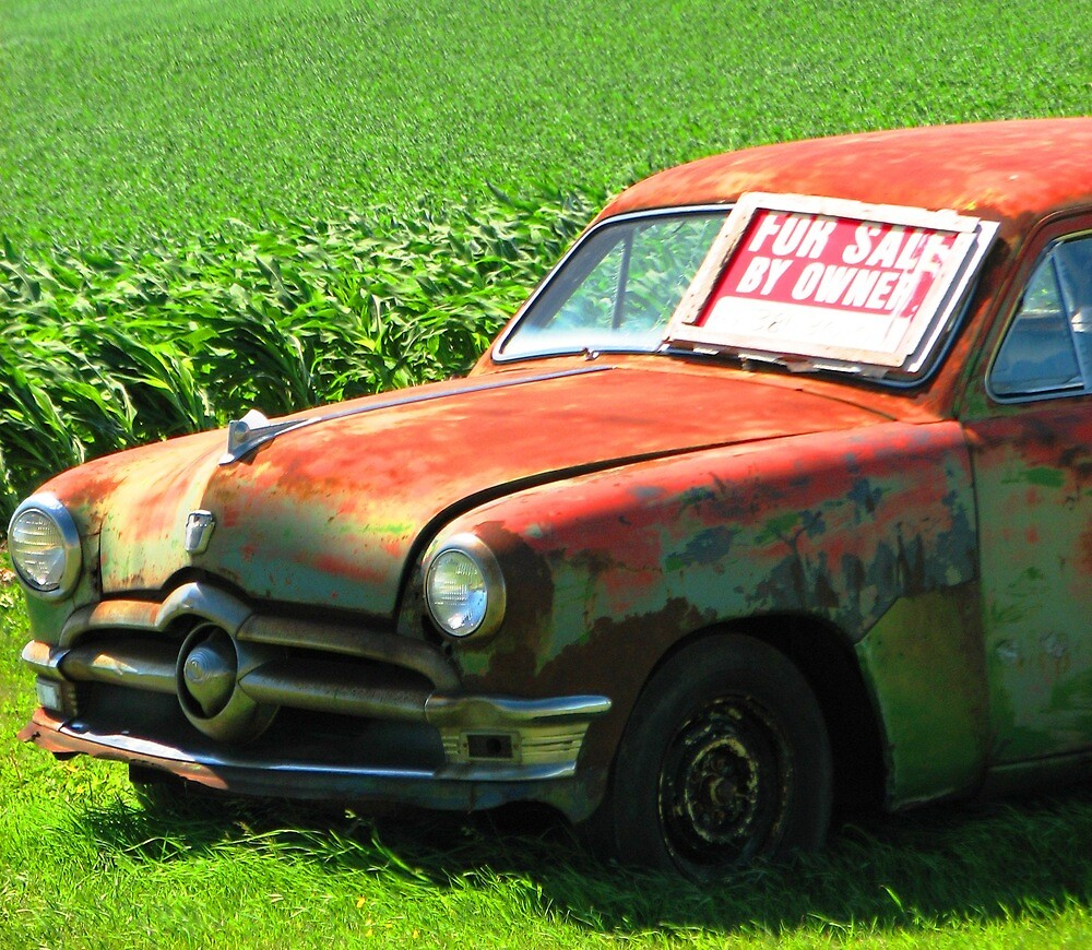 Vintage Car For Sale - Make Me an Offer by Kam Johnson