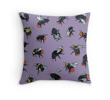 Red-Tailed Bumblebees Throw Pillow