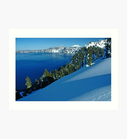 Crater Lake Winter Landscape 1 Art Print