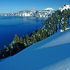 Crater Lake Winter Landscape 1 by Nick Boren