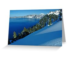 Crater Lake Winter Landscape 1 Greeting Card
