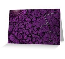 Purple fracture Greeting Card