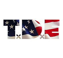 TDE TOP DAWG RED WHITE BLUE AMERICA FOURTH OF JULY 4TH Photographic Print