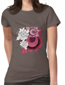 Flower Illustration Womens Fitted T-Shirt