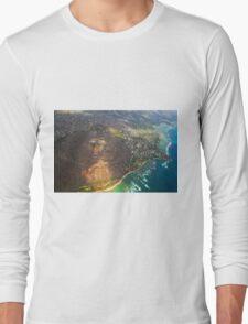 Diamond Head in Waikiki Beach - Honolulu, OAHU HAWAII Long Sleeve T-Shirt