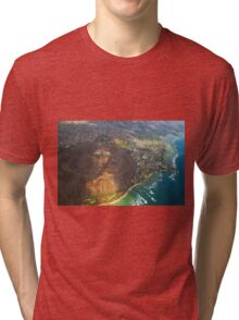 Diamond Head in Waikiki Beach - Honolulu, OAHU HAWAII Tri-blend T-Shirt