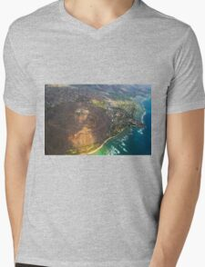 Diamond Head in Waikiki Beach - Honolulu, OAHU HAWAII Mens V-Neck T-Shirt