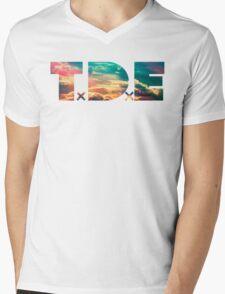 TDE TOP DAWG SKY BLUE CLOUDS HAZE FLARE Mens V-Neck T-Shirt