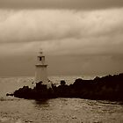 Lighthouse on Sarah Island - 2 - tasmania   -  sepia by lighthousecove