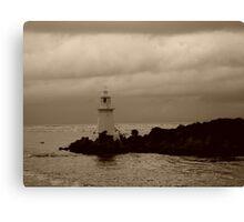Lighthouse on Sarah Island - 2 - tasmania   -  sepia Canvas Print