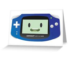 BMO - Blue GBA Greeting Card