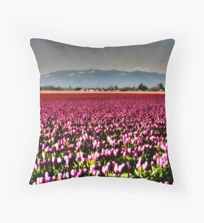 Tulip Fields Throw Pillow